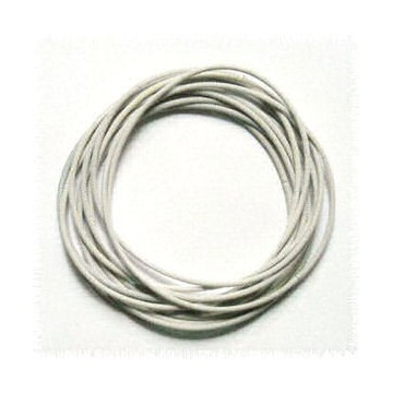 4 Bracelets Ressort En Metal Extensible Blanc